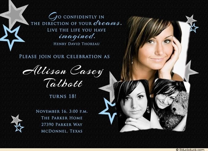 Awesome Free 18th Birthday Invitations Wording Birthday Invitations 18th Birthday Birthday Party Invitation Templates