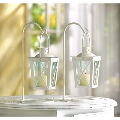White Railroad Candle Lanterns Wholesale At Koehler Home Decor Your Source For Wholesale Home Decor Accessories And Unique Gifts