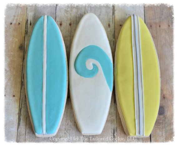 Surfboard Cookies Favors by The Tailored by TheTailoredCookie, $36.00