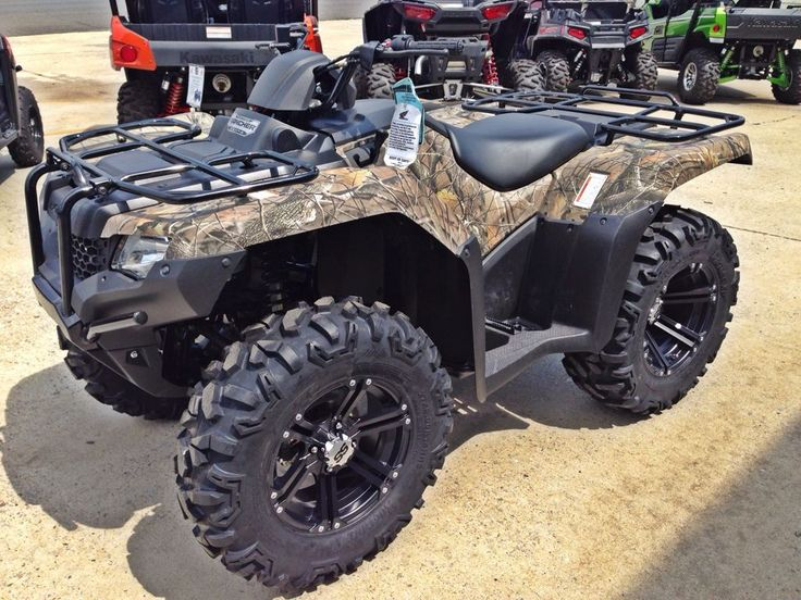 """Honda Rancher Camo MS with 14"""" wheels and Tires"""