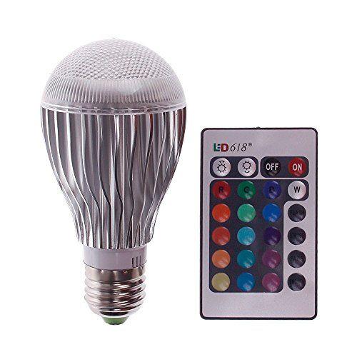 Eachbid 10W LED RGB Magic Lamp Light Bulb, Color Changing Spotlight with Remote Control
