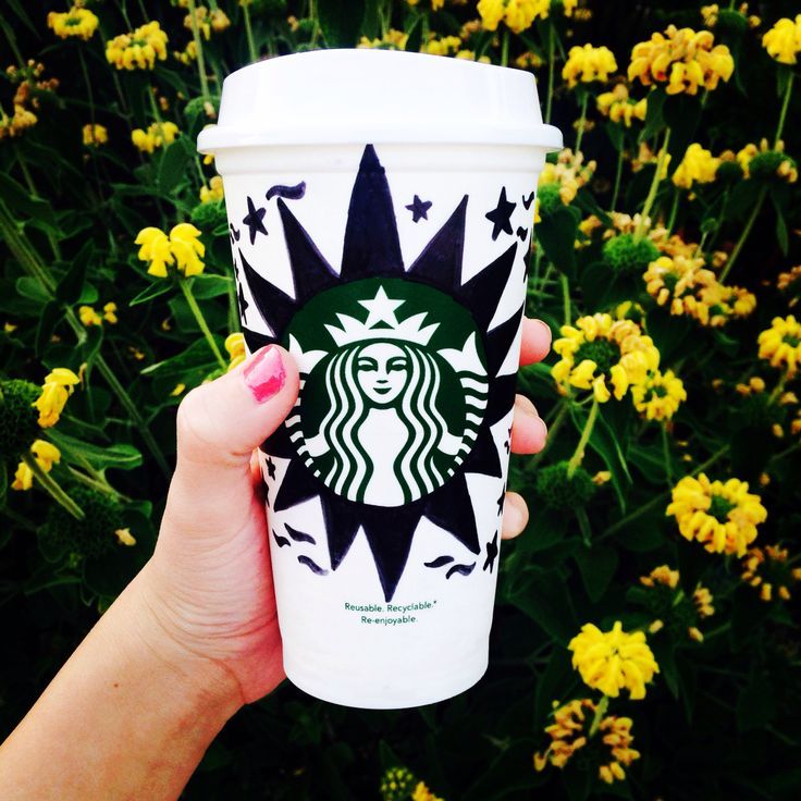 My design for the next Starbucks reusable cup! Repin and like my post on instagram (@Cassia Abeledo-Reece)! You da bomb