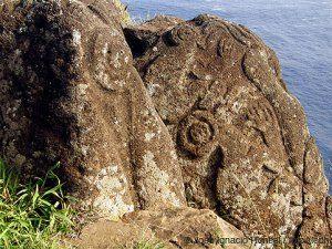 Petroglifos Orongo Isla de Pascua Chile