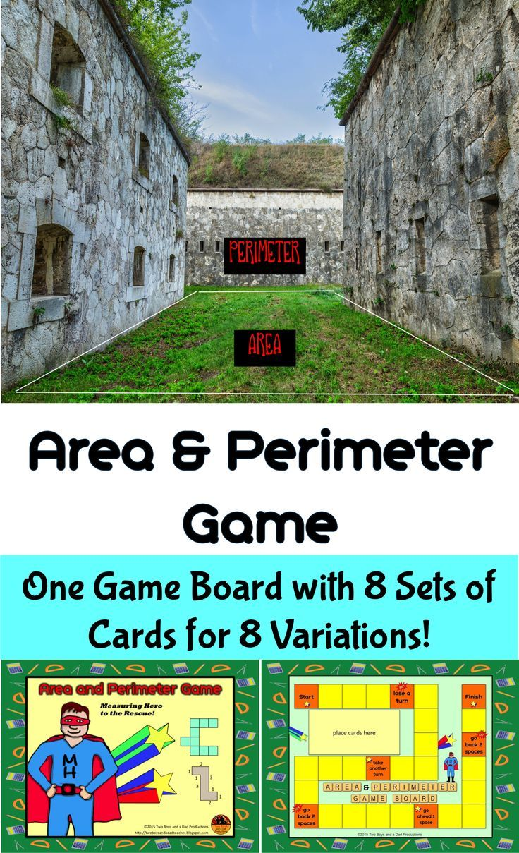 This Area And Perimeter Game Gives Students Practice In Finding The Area  And Perimeter Of Two