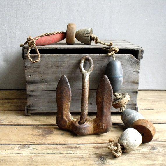 Vintage Nautical Decor Sale: Vintage Boat Anchor : Nautical Coastal Decor