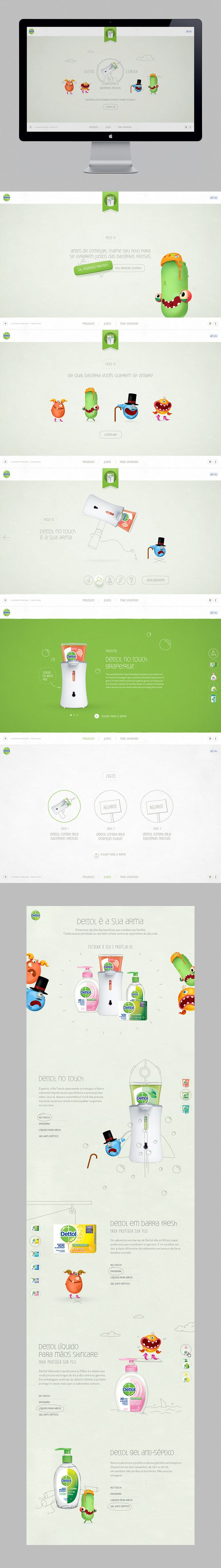Dettol Ulgy Germs by Diogo Akio — DCollection™ #hotsite