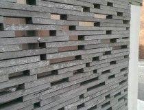 Wooden lattice wall