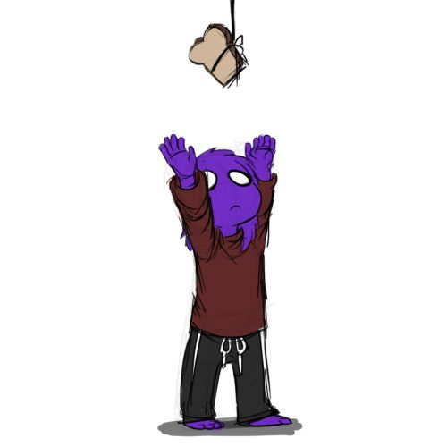 """fnaf vincent (purple guy) as a kid """"I want the bread!"""""""