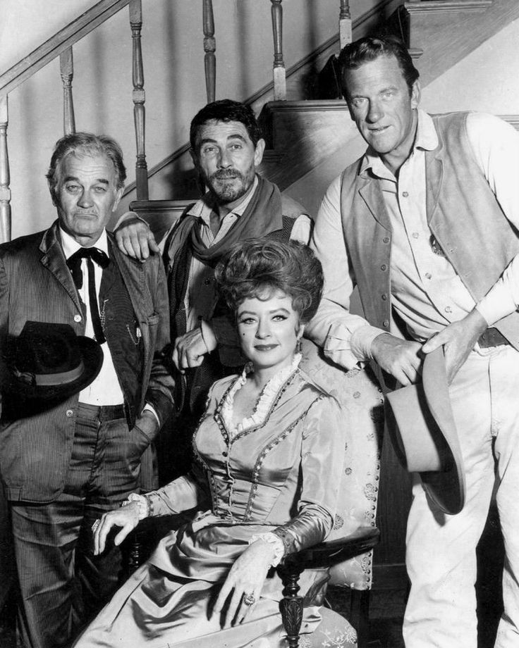 """1967 CAST OF THE CBS TV WESTERN """"GUNSMOKE"""". Our photographs are high quality reproductions, in MINT condition, professionally printed on high gloss photographic paper. Standing, from left: Milburn Stone as (""""Doc"""" Adams), Ken Curtis (Festus Hagen) and James Arness (Marshall Matt Dillon).   eBay!"""