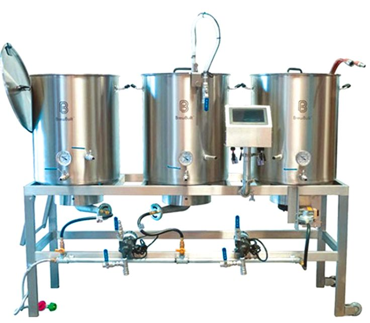 Stainless Steel Single Tier Homebrewing System and Homebrew Setup with Digital Interface. http://www.westcoastbrewer.com/Home_Brewing_Stands.php