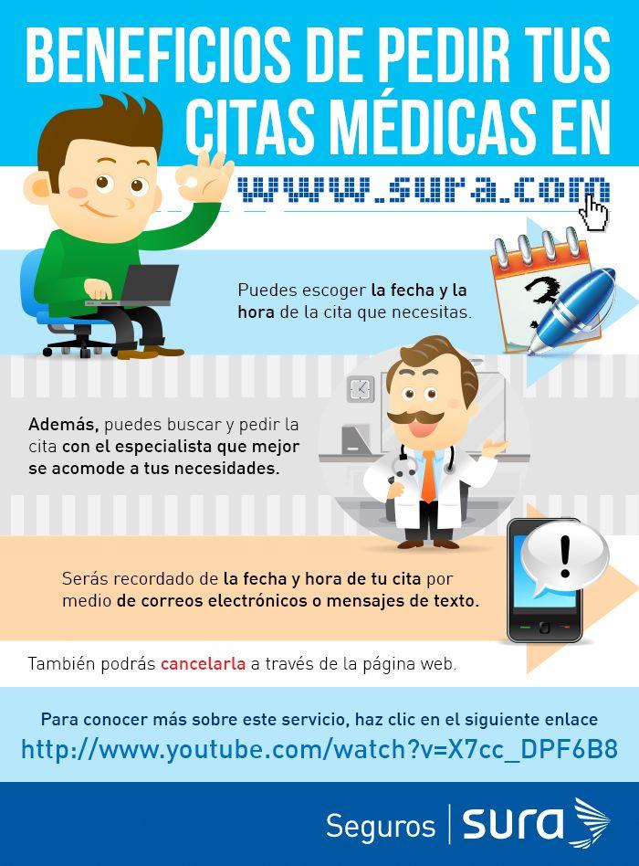 Conoce el nuevo servicio de citas médicas por Internet que SURA ha creado para ti.