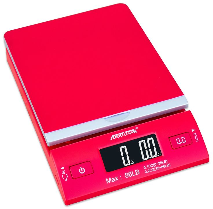 Accuteck DreamRed 86 Lbs Digital Postal Scale Shipping Scale Postage With USB&AC Adapter Limited Edition