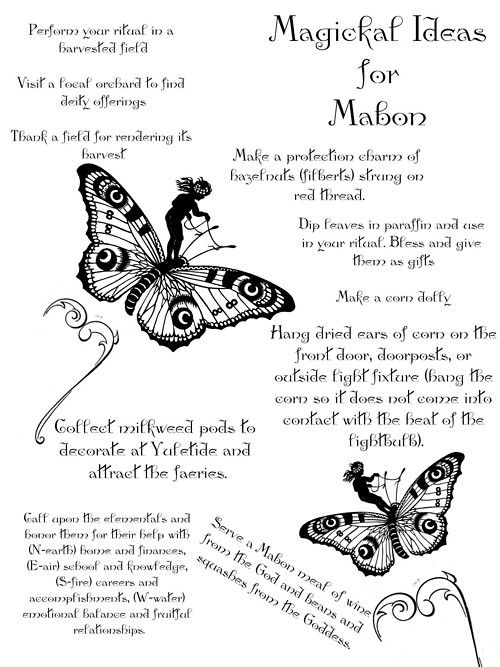 Ideas for Mabon