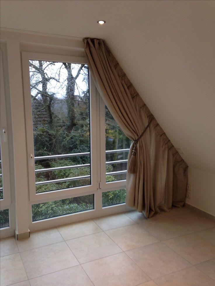 wir bekommen auch an ihre dachschr ge einen vorhang dran vorh nge pinterest. Black Bedroom Furniture Sets. Home Design Ideas
