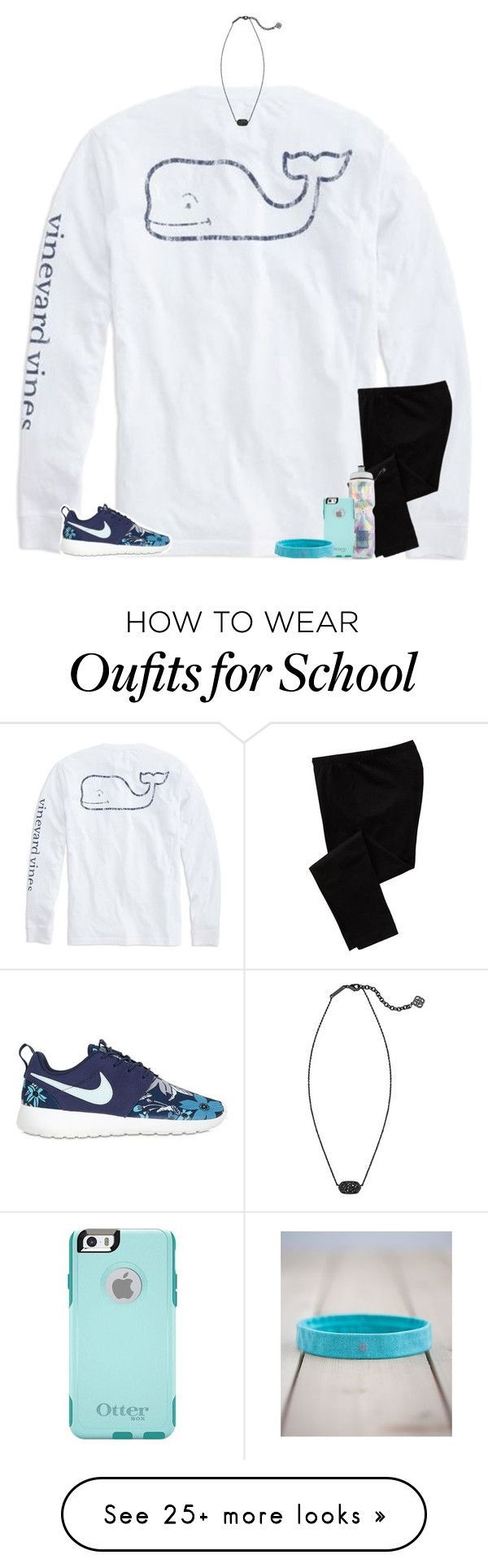 """ew school tomorrow"" by secfashion13 on Polyvore featuring Vineyard Vines, Old Navy, NIKE, Kendra Scott, Victoria's Secret, OtterBox and lululemon"