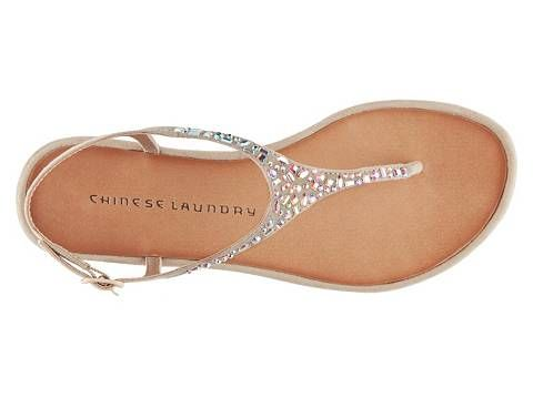 I really like these in nude! Chinese Laundry Glisten Flat Sandal | DSW $39.95