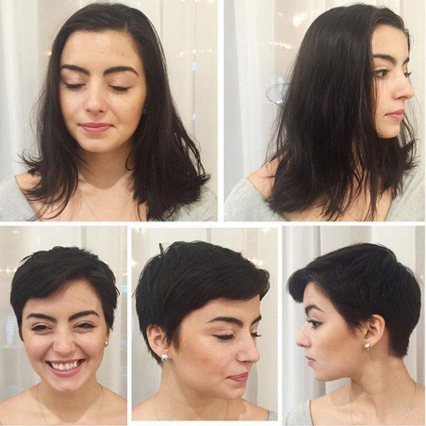 Long Hair To Pixie Makeover Hair Makeover Short Hair Styles Pixie Long To Short Hair