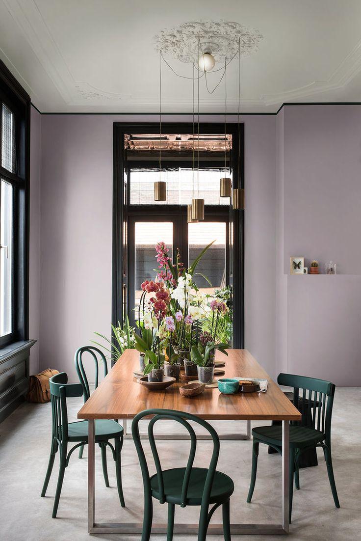 Prachtige, verassende kleurencombinatie. Het geeft de ruimte iets elegants, speels en verrassends.
