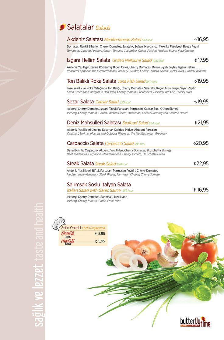 Salatalar ''Menü''