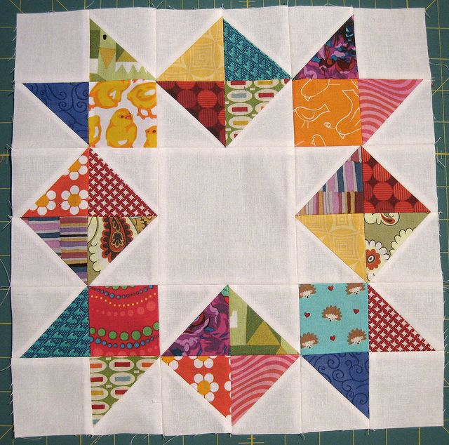 love in a mist for alliestitch by felicity.quilts, via Flickr