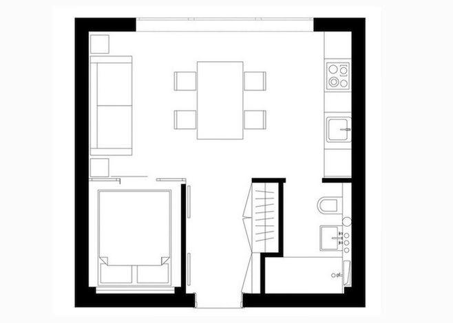 Интерьер квартиры 33 кв.м.