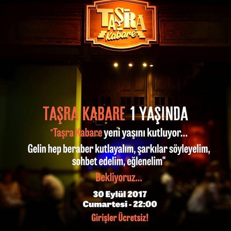 Taşra Kabare yeni yaşını siz seyircileri ve misafirleriyle birlikte kutluyor Gelin hep birlikte şarkılar söyleyelim sohbet edelim eğlenelim. Bekliyoruz Girişler Ücretsiz Etkinlik saati: 22:00 #TaşradaBuluşalım  #TaşradaBuluşalım #TaşraKabare #konser #müzik #music #kabare #cabaret #tiyatro #theatre #food #Kadıköy #canlımüzik #istanbul #ücretsiz #istanbul