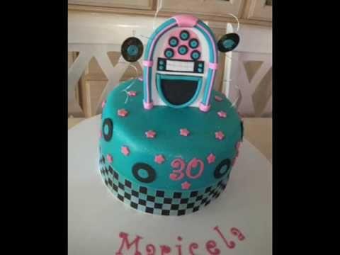 1950's Rock N Roll Themed Fondant Cake
