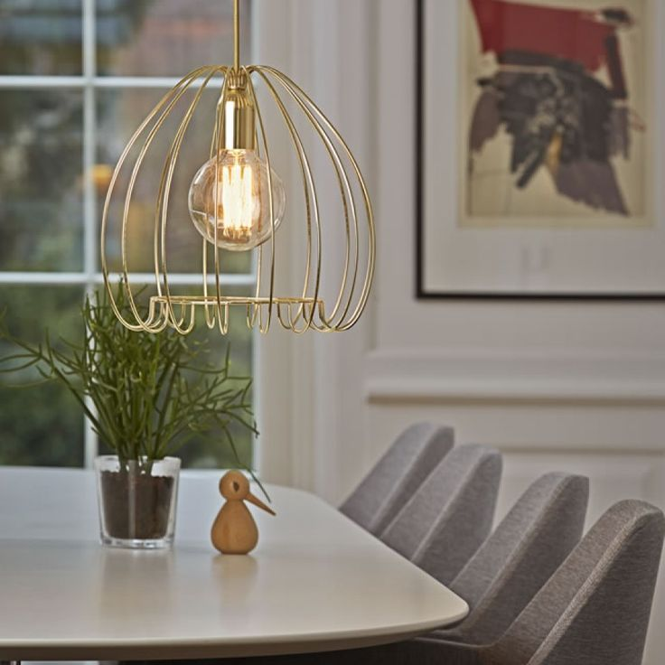 industrial contemporary lighting. Cage Brass Pendant Light By Nordlux. 83103035.. Design For The People Industrial Contemporary Lighting