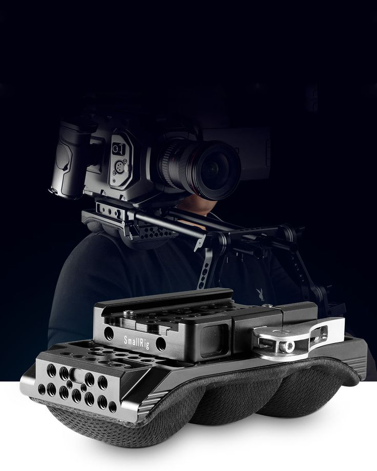 SmallRig Shoulder Pad with 15mm RailBlock is exclusively designed for big and middle sized cameras. #camera shoulder pad #camcorder shoulder pad #shoulder pad with baseplate #DSLR shoulder pad