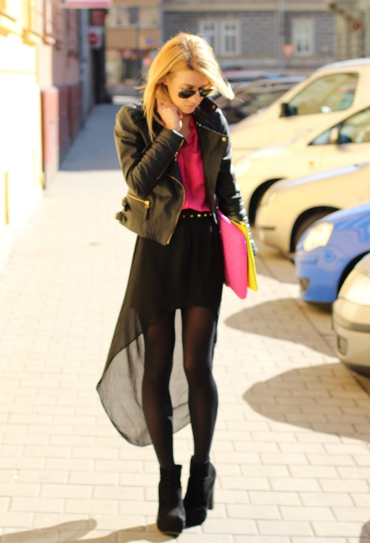 Assymetric skirt!  #outfit, Zara in Skirts, Zara in Jackets