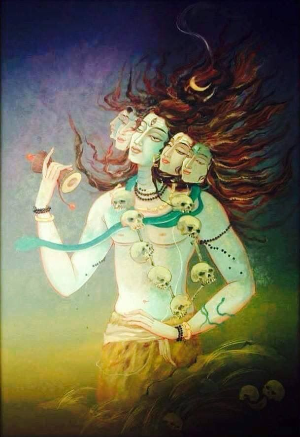 Panchamuka Shiva.