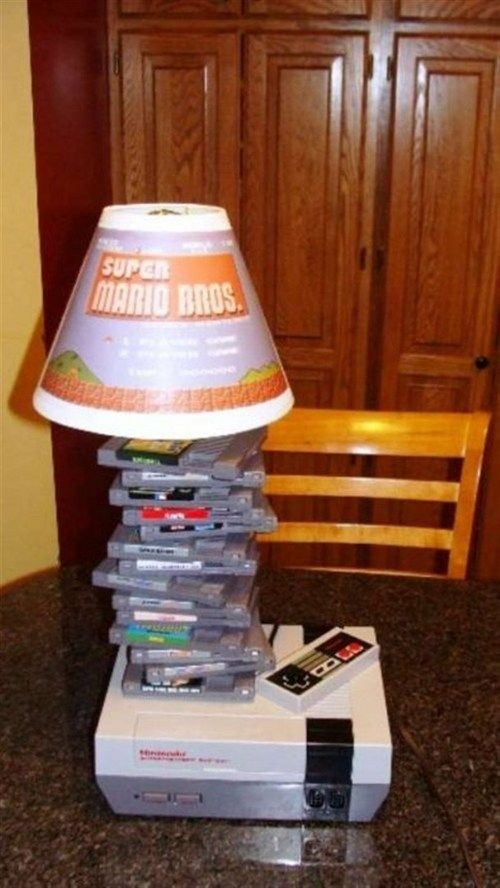 Nintendo lamp. All I think of is Kolt and how he would die if this happened.