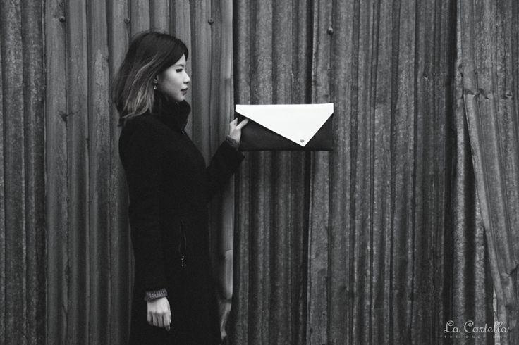 Fern with La Pochette Black and White #lacartella #knob_design