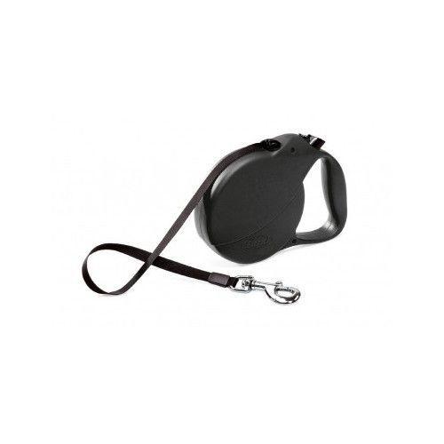 Flexi Retractable Belt Dog Leash Large 26-Feet Long w/Sturdy Safety Collar Black #Flexi