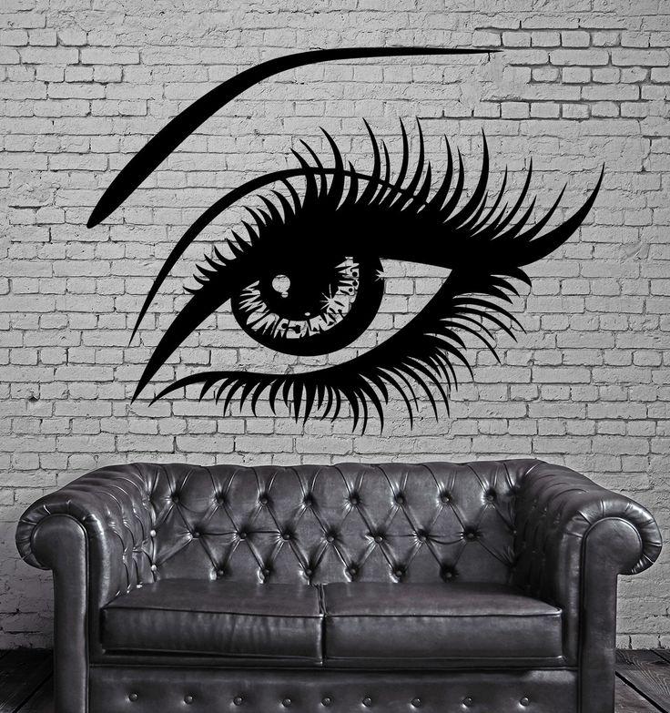 Sexy Beautiful Female Eye Big Eye Lashes Decor Wall Mural Vinyl Art Sticker M526