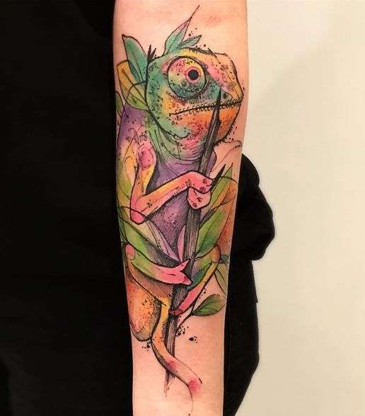 35 Colorful Chameleon Tattoo Ideas: 17 Best Ideas About Chameleon Tattoo On Pinterest