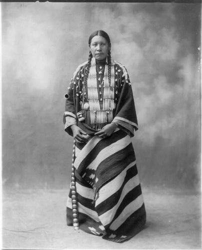 Lucy Red Cloud, Sioux, c1899 Ceremonial Dress, no location