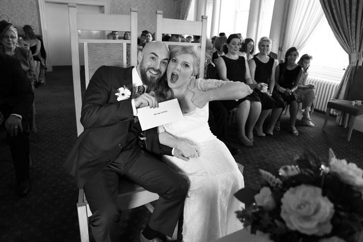 Just Married photo. The (ecstatically) happy couple!