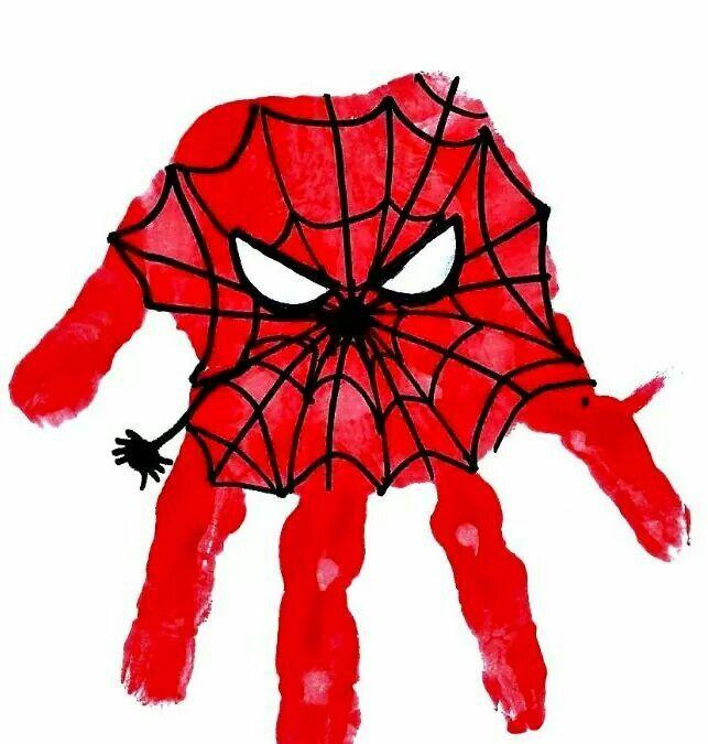 Schön Messy Little Monster: Spiderman Superhero Handprint Craft