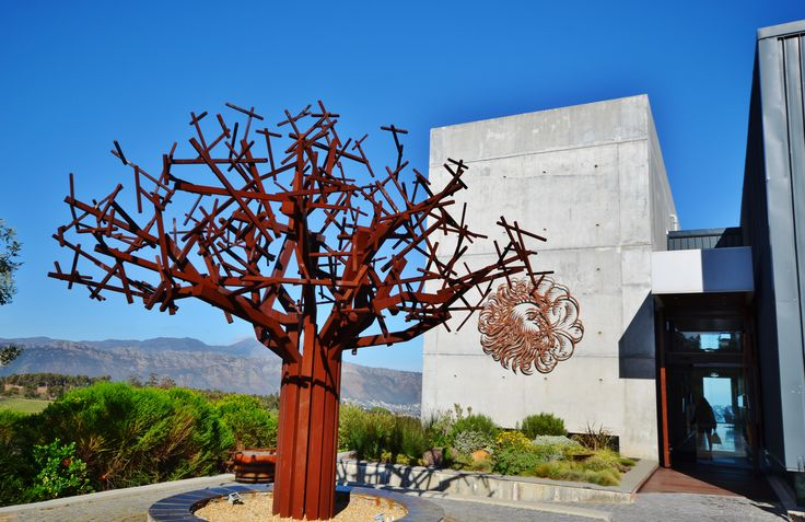 """Waterkloof Wine Estate in Somerset West - Cape Town. A state-of-the-art gravitational cellar, tasting room and restaurant perched on the side of Schapenberg (mountain) and overlooking the Helderberg area of Cape Town and False Bay. The cellar & restaurant has beautiful sea views up to Cape Point. This should truly be """"bucketlisted"""" by everyone as one of the Cape wine estates you need to visit.  #waterkloof  #wineestate #somersetwest #waterkloof #waterkloofrestaurant"""