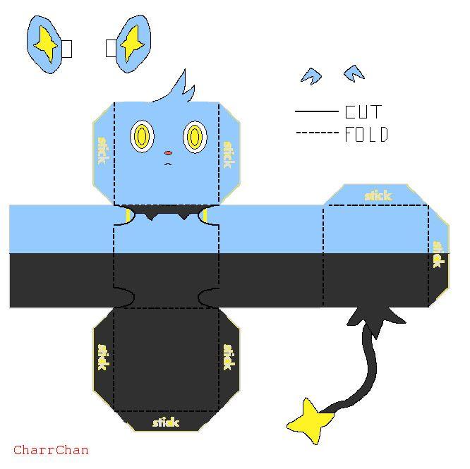 Shinx Papercraft by CharrChan on DeviantArt