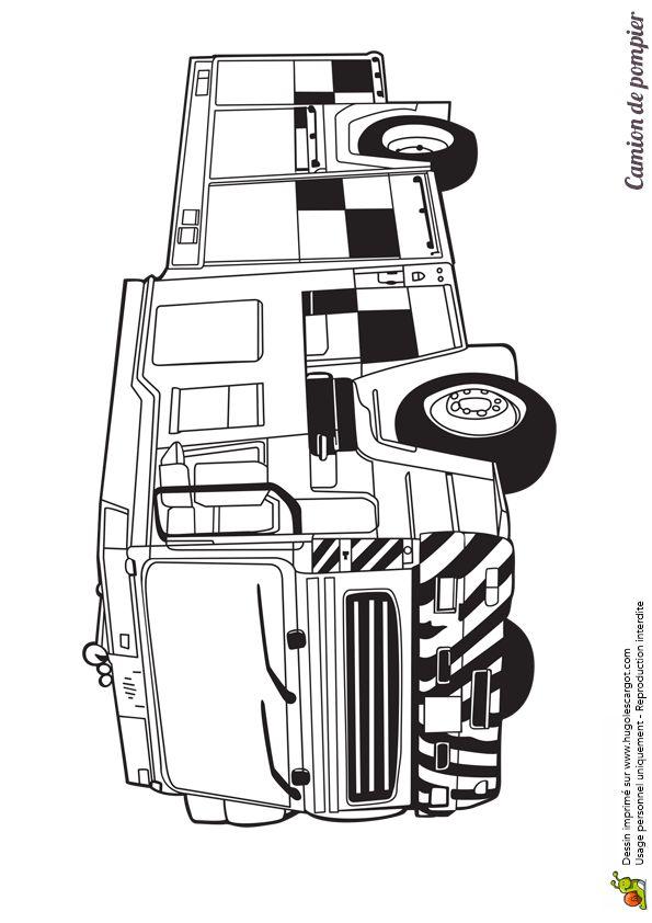 Les 86 meilleures images du tableau coloriages de camions - Coloriage camion de pompier ...