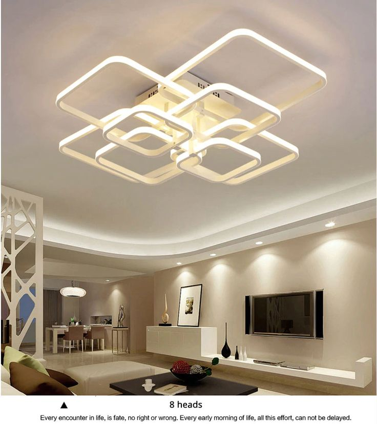 Home Interiorlighting Design: Square Circle Rings Modern LED Ceiling Lamp Fixtures In