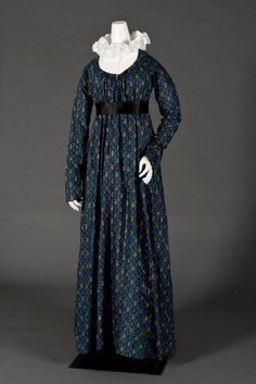 American dress, 19th century Date:c. 1810 Media:Cotton