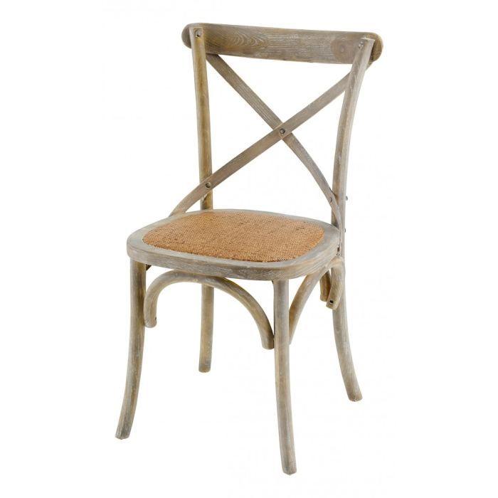 CHAISE Chaise bistrot grisée Villa Florence - Lot de 2…