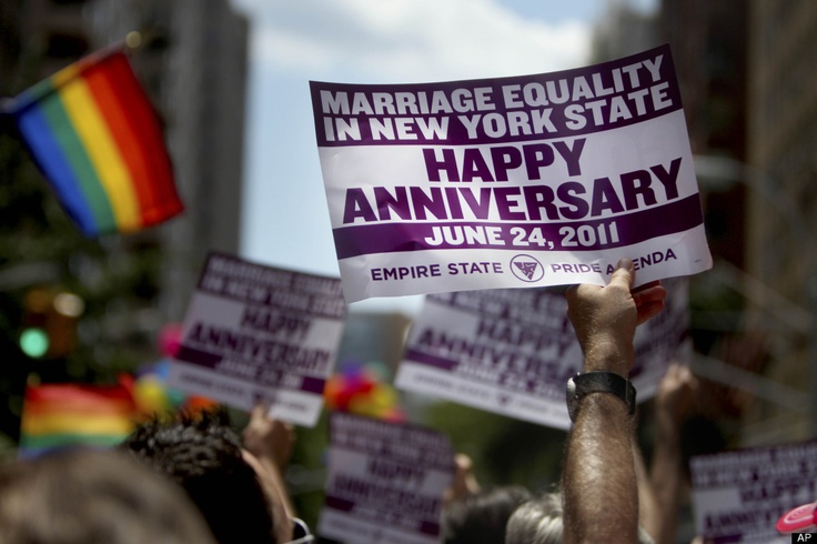 Gay Pride Parade NYC 2012: Celebrating the One-Year Anniversary of New York's Historic Marriage Equality Vote