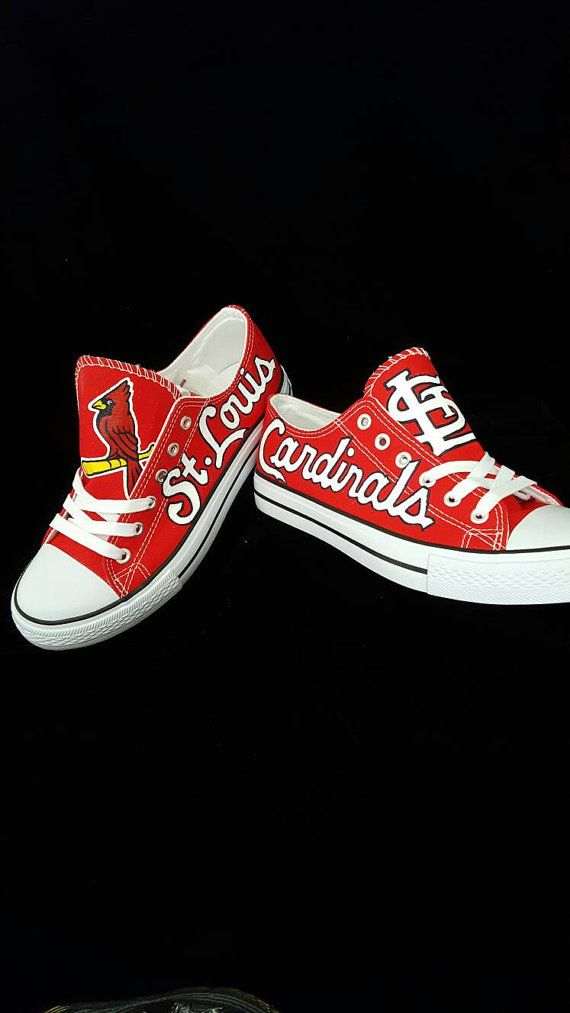 Custom St LOUIS CARDINALS Men And Women Baseball Shoes Sports Fan