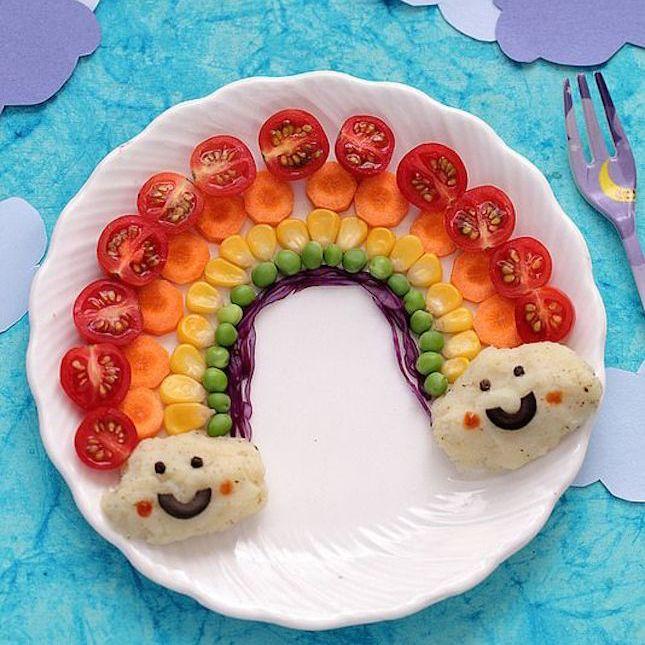 Kids Vegetable Rainbow Plate Makes Eating Veggies Fun Too Cute Fun Food Ideas For Kids