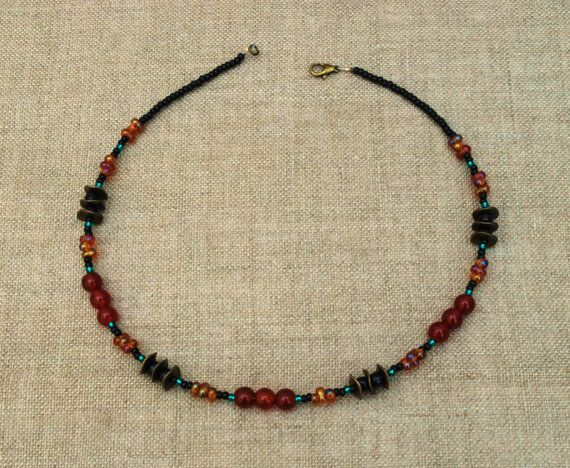 Carnelian necklace.   by BijoubeadsLondon £23.00