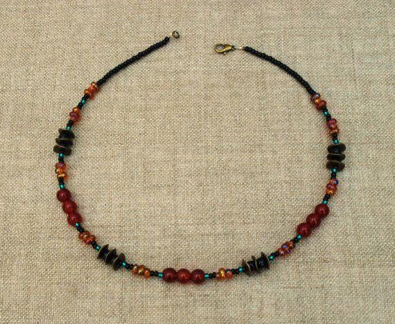 Carnelian necklace.   by BijoubeadsLondon £23.00